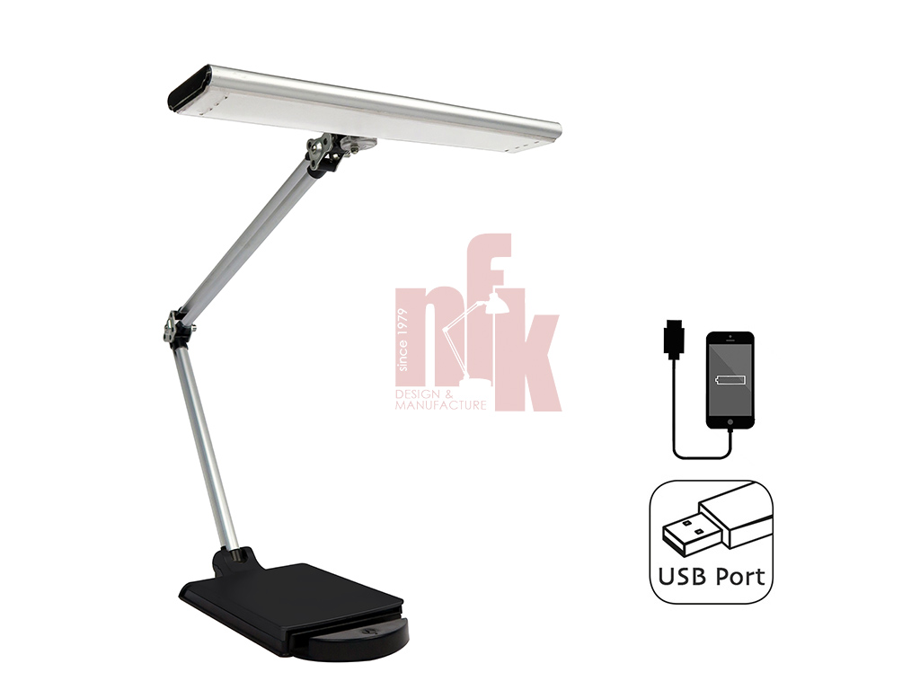 LP143 LED Desk Lamp with USB charging Port